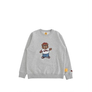 EXAMPLY by EXAMPLE BB BEAR CREWNECK for KIDS / GRAY