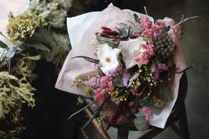 ksd様オーダー品 母の日の花束~グリーンベース+赤&ピンク