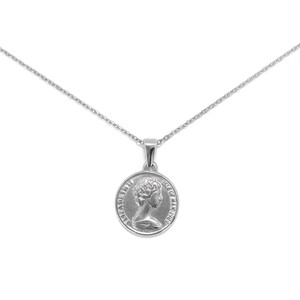 316L Coin Necklace 【SILVER】