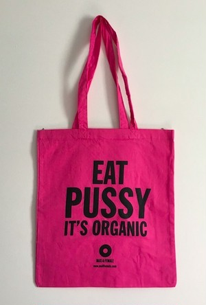 EAT PUSSY PINK エコバック