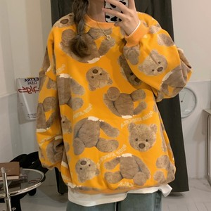 【トップス】SNSで話題沸騰ファッション韓国系プリント動物柄プルオーバーパーカー35375204