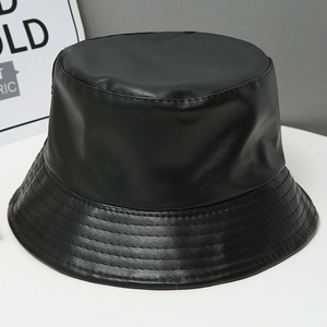 Faux leather bucket hat LD0122