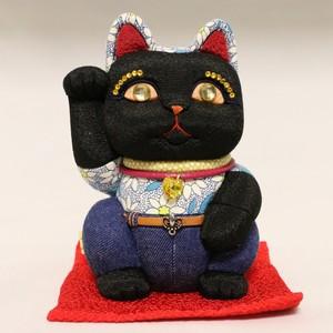 まねき猫(大) デニム(ブラック)