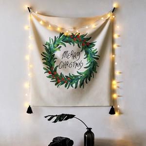 Christmas fabric poster L size 6types / クリスマス ファブリックポスター タペストリー 韓国雑貨 北欧