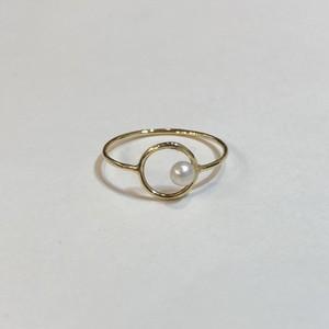 BRISEMY K18 moon view ring ブライズミー18金ムーンビューリング
