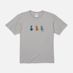 Tシャツ[おちょきん]けなるい スモーキー ライトグレー色