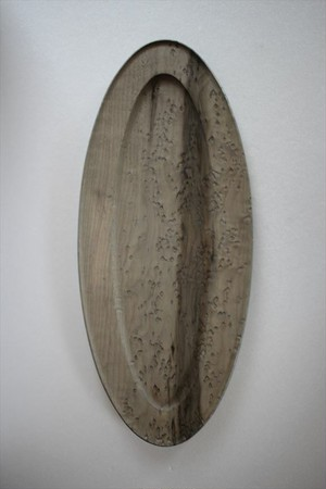 北山栄太|ポワソン(鉄染め)オーバル皿小 B