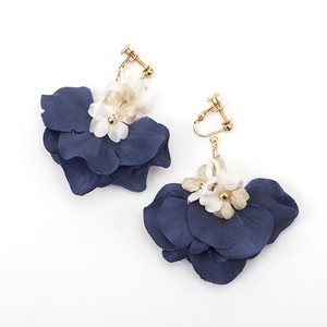 miniflower&petal ネイビー×ベージュ