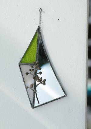 お在庫1点【contemporary mirror】green/ユーカリ 実