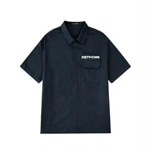 半袖シャツロゴとバックプリントユニセックス送料無料