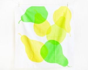 手染め風呂敷 洋なし 黄緑 Lサイズ