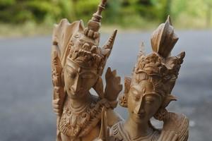 木彫り 彫刻 ラーマ・シータ
