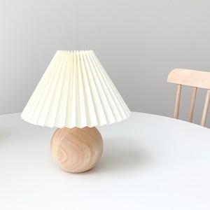 【特価・送料無料】wood pleats shade lamp / ウッド プリーツ ライト シェード ランプ 照明 スタンド 韓国