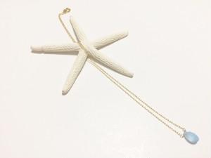 Bluechalcedony briolette necklace