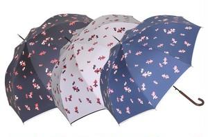 傘 長傘 ジャンプ レディース 金魚柄 晴雨兼用 強力防水 グラス骨 UVカット99%以上 遮熱 ブラックコート