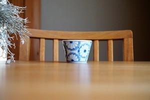 砥部焼/そば猪口/菊/皐月窯