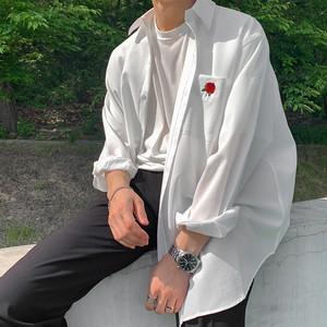ローズワンポケットシャツ BL5554