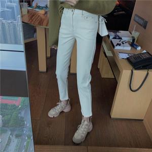 【配送優先】【ボトムス】無地ファッションカジュアルハイウエストアンクル丈26706659