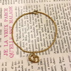 Christian Dior gold × CD bracelet