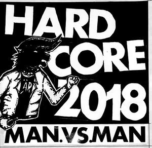 "【プリ・オーダー】M.A.N.VS.M.A.N - Hardcore 2018 CD + Anthrax ""Fistful of metal"" rip off long sleeve tee size:M バンドル"