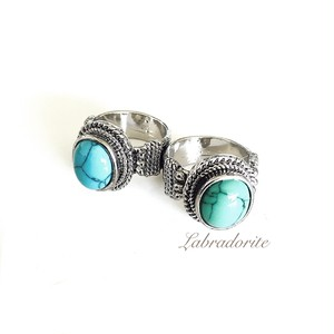Turquoise blue or green ring
