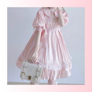 【お取り寄せ】リボン刺繍 ロリィタ OP 2色