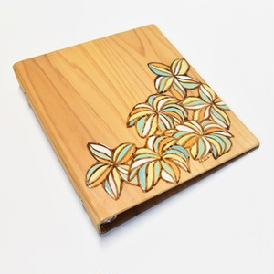 Wood File A5【Plumeria Gradation Lei & Motif 】