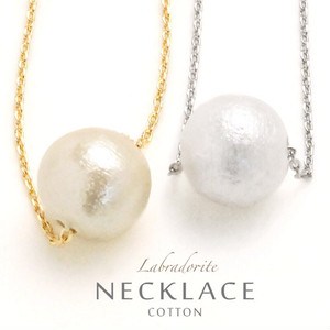 cp-01:cotton pearl necklace