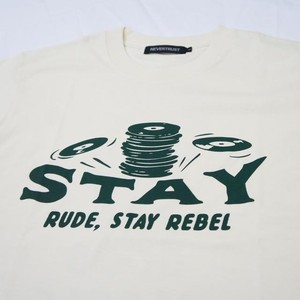 STAY RUDE , STAY REBEL T-SHIRT NATURAL