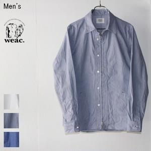 weac. コードレーンジップシャツ  ZIP SHIRTS2 (BLUE)