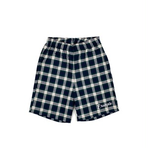 TARTAN CHECK SHORT PANTS (JAPAN MADE) / GREEN x NAVY