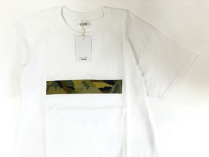【yoused】Box Panel Tee (camo)