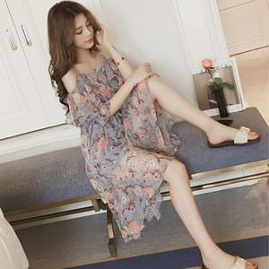 【dress】甘美な姿花柄ベアトップすがすがしい大人気ワンピース