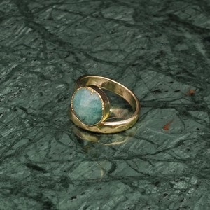 SINGLE STONE OPEN RING GOLD 013