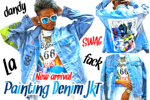 Bgnee painting denim JKT
