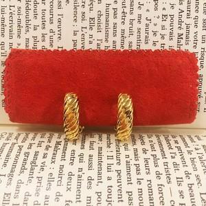 Yves Saint Laurent gold hoop earrings