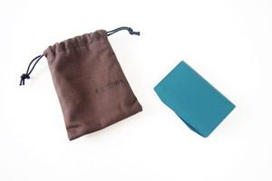 コルテ|Corthay|キャメルレザー|カードケース|グリーンブルー