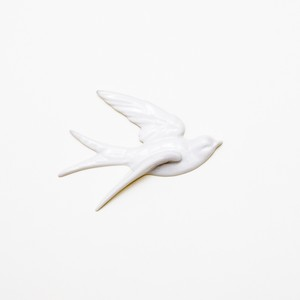 bird wall deco L white (outlet)