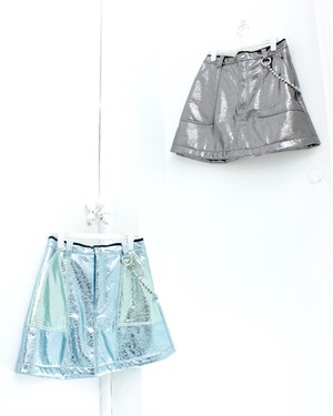 【Somewhere Nowhere】METALLIC SKIRT