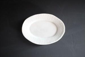 前田麻美|オーバル豆皿 白