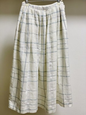 Vintage Spring Color Plaid Pleats Skirt Made In USA