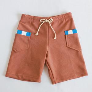 WB-12  キッズ&ジュニア レッドブラウン ポイントポケットパンツ