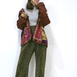 ◼︎80s vintage patchwork Bohemian jacket from U.S.A.◼︎