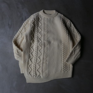unfil / french merino cable-knit sweater