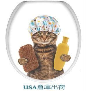 木製便座 Shower Catデザイン木製便座 基本標準サイズ(大型サイズ対応可調節機能付)