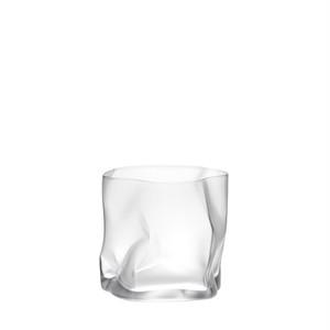 個性的なロックグラス COM(木村硝子×小松誠)クランプル オールド フロスト