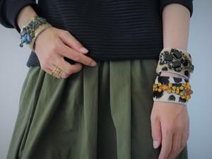 ハラコレザー カフブレスレット hair on leather cuff bracelet <LC-HBR1/2/3>