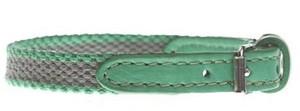 Dog collar 犬 カラー 首輪 25 Grey x green