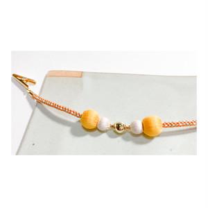 マグネットの羽織紐(ショール留め) -黄色×白-