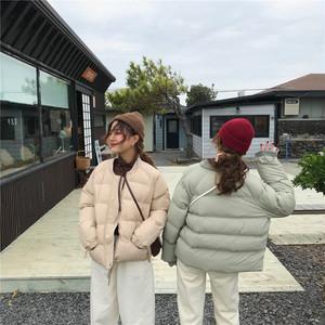 【アウター】合わせやすい厚めファッションスタンドネック秋冬ダウンコート